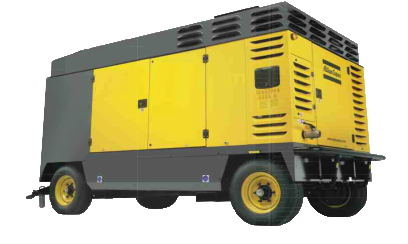 ATLAS Portable Diesel Driven Air Compressor